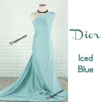 HijabersTex 1/2 Meter Kain DIOR Iced Blue