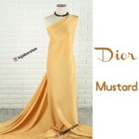 HijabersTex 1/2 Meter Kain DIOR Mustard