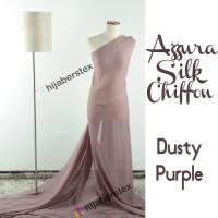 HijabersTex 1/2 Meter Kain AZZURA SILK CHIFON Dusty Purple