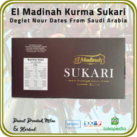 [ 2 Pck @ 500 Gr ] Kurma Sukari El Madinah Food Premium Dates Saudi