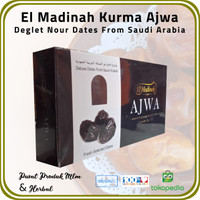 [ 3 Pck @ 500 Gr ] Kurma Ajwa El Madinah Food Premium Dates From Saudi