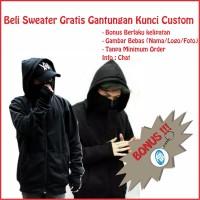 Sweater Pria Hoodie Ninja Sweater Polos Sweater Masker