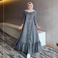 Terbaru Peoni Dress Moscrepe Baju Gamis Remaja Maxi Mirana Premium