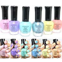 6 New Kleancolor PASTEL SUMMER COLLECTION LOT Nail Polish Lacquer Colo