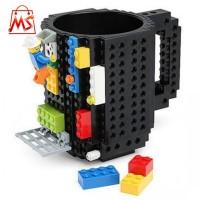 Gelas Mug Lego Build-on Brick - Minecraft