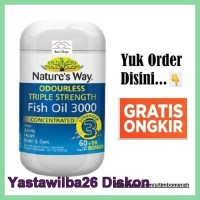 Sale Natures Way Odourless Triple Strength Fish Oil 3000Mg Isi 70 Caps