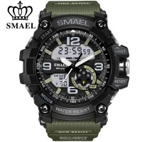 New SMAEL Jam Tangan Pria Military Sport Watches 1617 LED Quartz