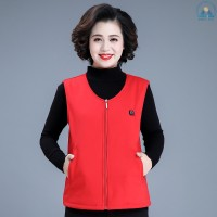 Red XXXL Sunny☀ Knitted Pure Cotton Thermoelectric Vest