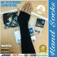 Manset Jempol / Hand Socks Jempol Putih Hitam Cream Haji Umroh Grosir