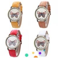 Jam Tangan Quartz Analog Casual Motif Kupu-kupu, 4 Pilihan Warna