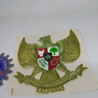 Sticker Burung Garuda Vespa Gs Congo Mobil New Old Stock [RCS10]