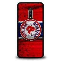 Hardcase Casing Realme X Boston Red Sox Grunge Baseball Clu