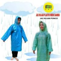 Jas Hujan Plastik LDPE Merk BAMBU Terusan dan Setelan Murah