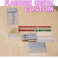 FLASHDISK PROMOSI / USB KRISTAL CUSTOM LOGO