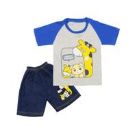 Skabe Baju Anak Laki Laki Giraffe Setelan Jeans Usia 6-12 Bulan 3221