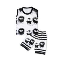 Skabe Baju Anak Laki Laki Singlet Monster Kaos Usia 3-4 Bulan 3308