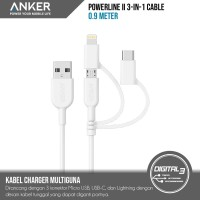Anker A8436 PowerLine II 3-in-1 Cable Multi Lightning Micro-USB type C
