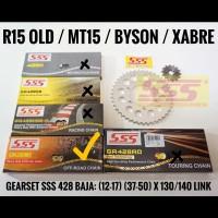 GEARSET/GIRSET/GIR SET SSS R15/XABRE/BYSON 428 RANTAI SSS GOLD HMX