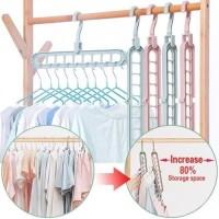 Magic Hanger Instan Gantungan Baju Lemari Pakaian Wonder Hanger jemura