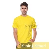 Kaos Polos /Oneck /Oblong Esperanza Kuning Kenari 100% Cotton Grosir