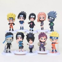 Figure Naruto 1 set isi 10 pcs / Topper Cake Kue Naruto