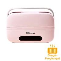 Tempat makanan dgn warmer electric / lunch box 1 liter pink