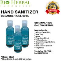 BIO HERBAL 60ml Hand Sanitizer Cleanser Gel Aloe Vera - ORIGINAL