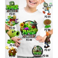 Kaos Baju tshirt anak Custom Plants vs Zombies
