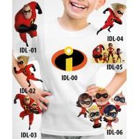 Kaos Baju tshirt anak Custom Incredibles 2