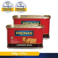 Pronas Kornet Sapi Regular 198 g (kemasan kaleng EOE) bundling 2 pcs