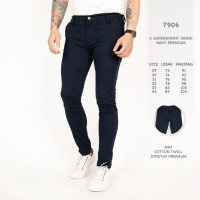 Celana Chino Skinny Pria warna Navy premium/ celana chino Modis cowok