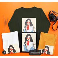 Tumblr Tee/Shirt/Kaos Wanita Lengan Panjang MAN TEARS-ELLIPSES