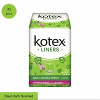 Pantyliner Kotex Liners Daun Sirih Longer and Wider Isi 32