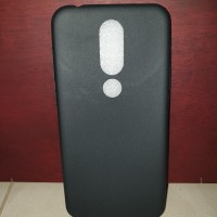 Nokia 6.1 Plus / X6 : Black Matte Slim Fit Soft Case Silicone Silikon