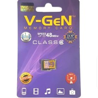 Memori Micro Sd V-Gen Memory Card 8gb Vgen Class 6 Original Mmc Tf