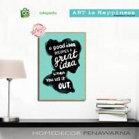 quotes home AH home decor hiasan pajangan dinding poster decor kayu