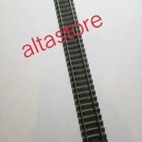 Miniatur Kereta api Rel lurus nikel silver