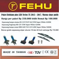 Paket bohlam plus LED Terios TS 2013 2014 2015 2016 2017 sinar putih