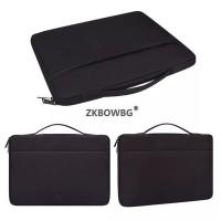 Tas Laptop Softcase 14 inch Nylon Jinjing Zipper Waterproof - Black
