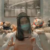 Topi Visor Tali Pelindung Wajah Dewasa Anak Virus Corona Anti Bakteri
