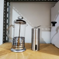 Paket Easy Coffee. French press dan Grinder Stainless