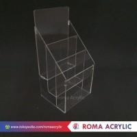 Acrylic Tempat brosur A5 3 susun/kotak brosur