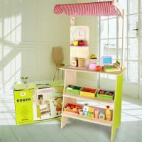 mainan anak mainan kayu supermarket booth mainan kasir kado anak