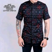Baju Kemeja Casual Batik Songket Pria Kemeja Formal Cowok