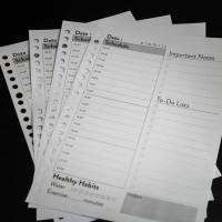 [Tulis.Id] Simple Daily Planner A5 Loose Leaf Binder 100 gsm