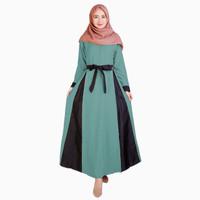 Long Dress Gamis maxi Wanita Muslim kombinasi warna - Jfashion Lestari