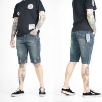 Celana jeans pria pendek sobek cakar