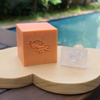 Custom made Sea Turtle Soap Stamp stempel sabun khusus dengan handle