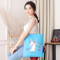 Women Tote Canvas Bag Angel Unicorn / Tas Wanita kanvas bahu Import