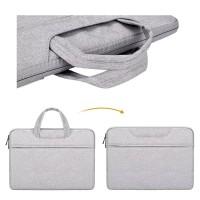 Tas Laptop 14 inch Macbook Softcase Nylon Jinjing Waterproof - Grey